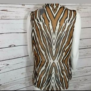 NWT Worthington tiger  Print sleeveless Top L